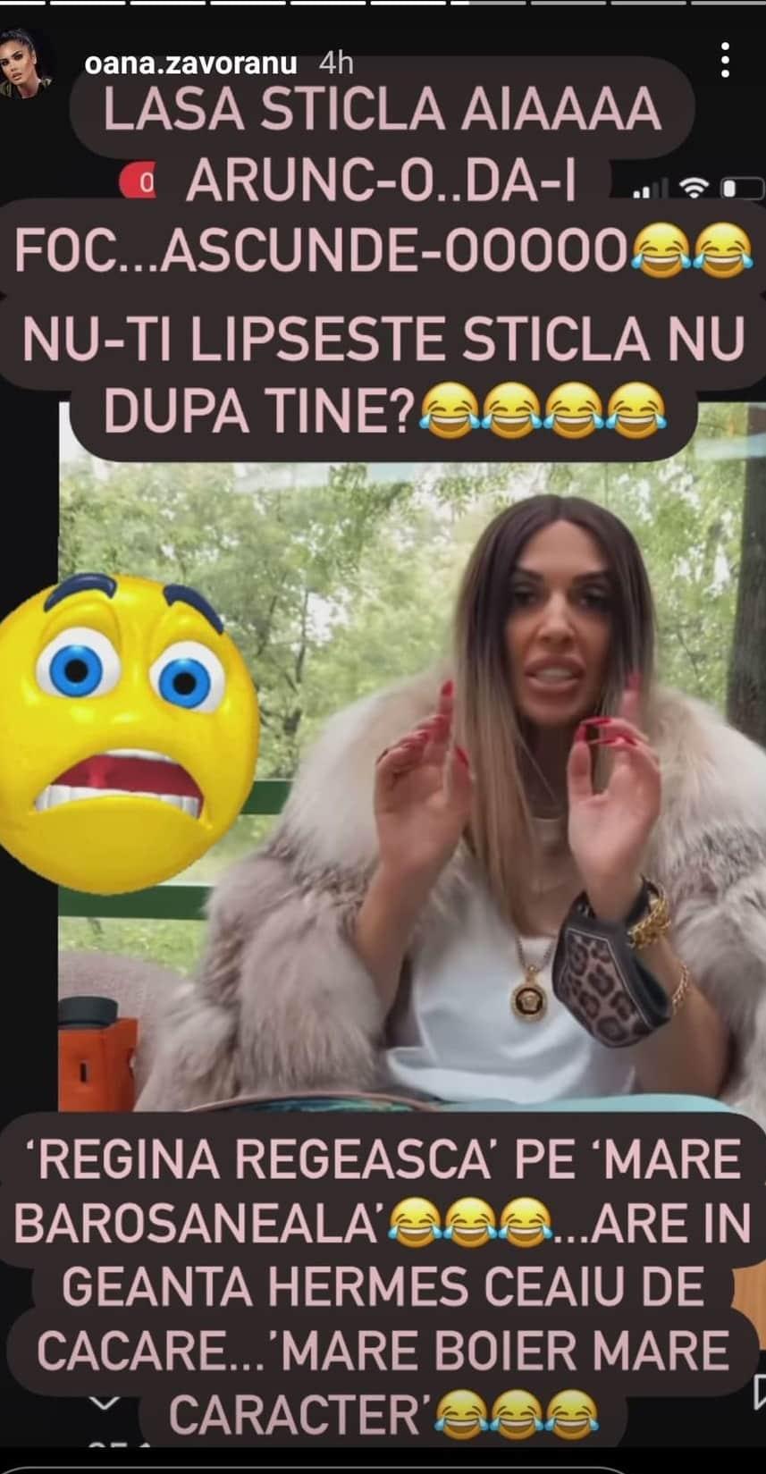 """Raluca Bădulescu, ironizată de Oana Zăvoranu: """"Regina regească pe barosăneală"""""""
