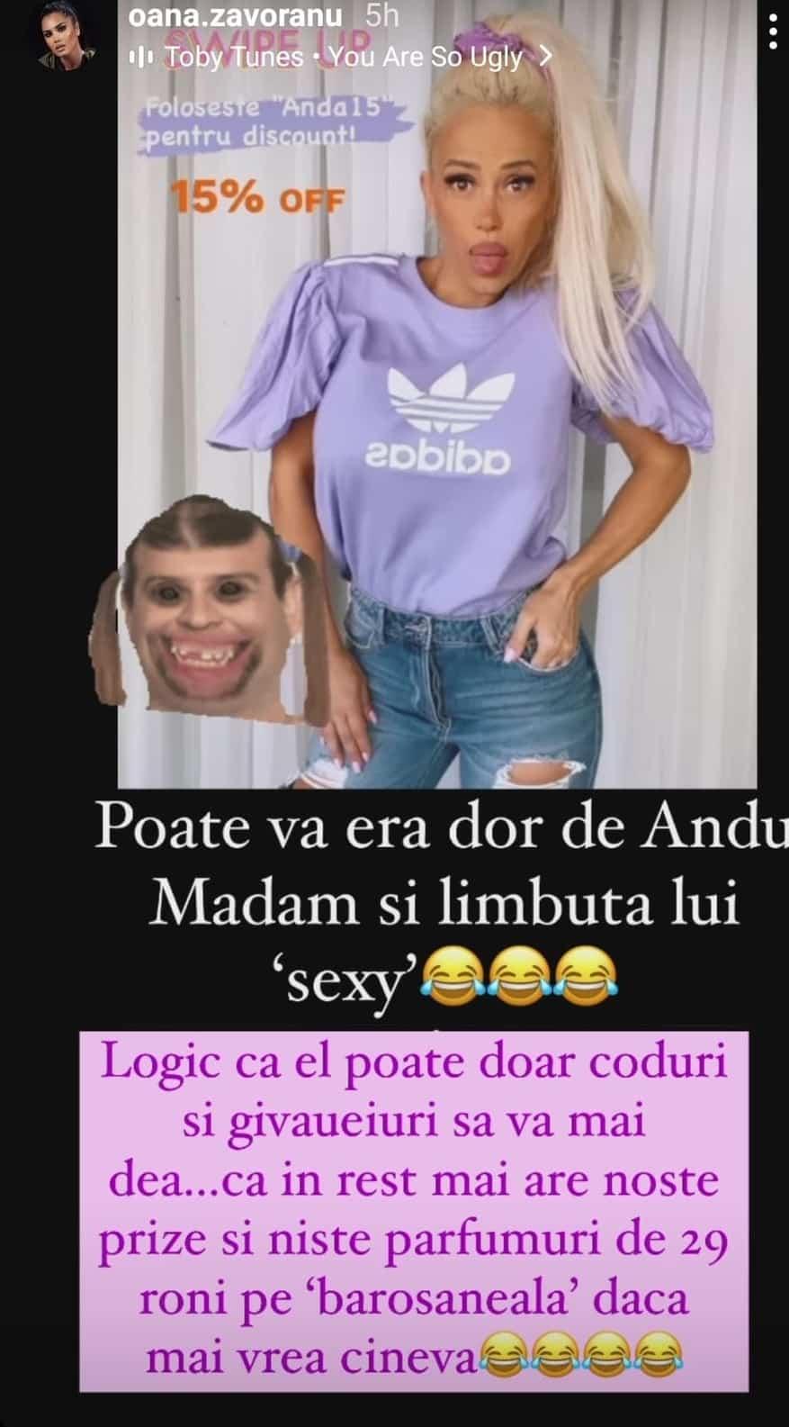 """Oana Zăvoranu, un nou atac la adresa Andei Adam: """"Poate vă era dor..."""""""