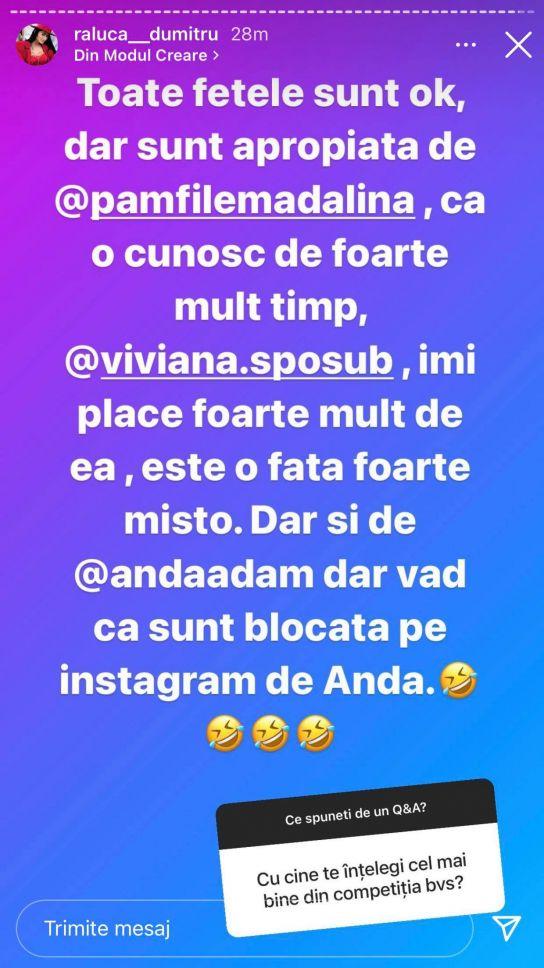 """Raluca Dumitru, părere sinceră despre colegele sale de la Bravo, ai stil: """"Sunt blocată pe Instagram de..."""""""